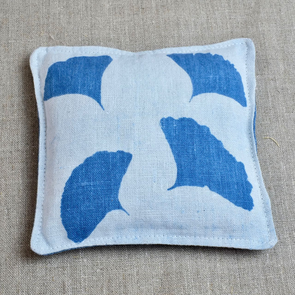 Blue Lavender Pouch with gingko