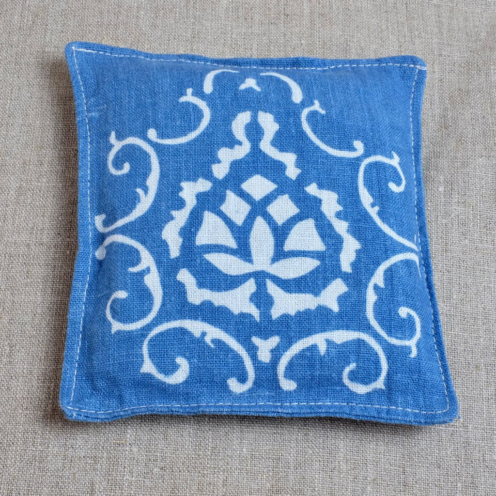 Blue Lavender Pouch with house logo
