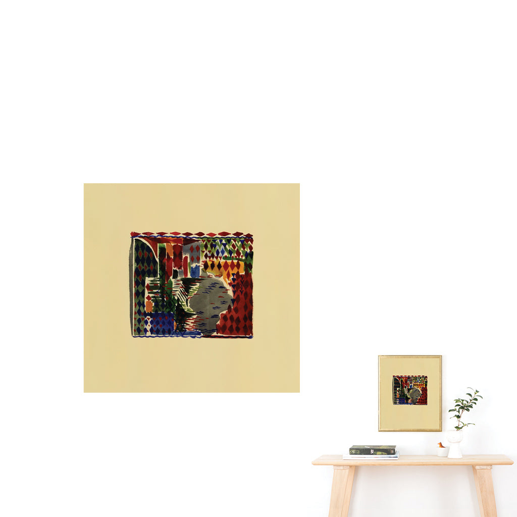 Ginette Bernas Wales Abstract Color Print