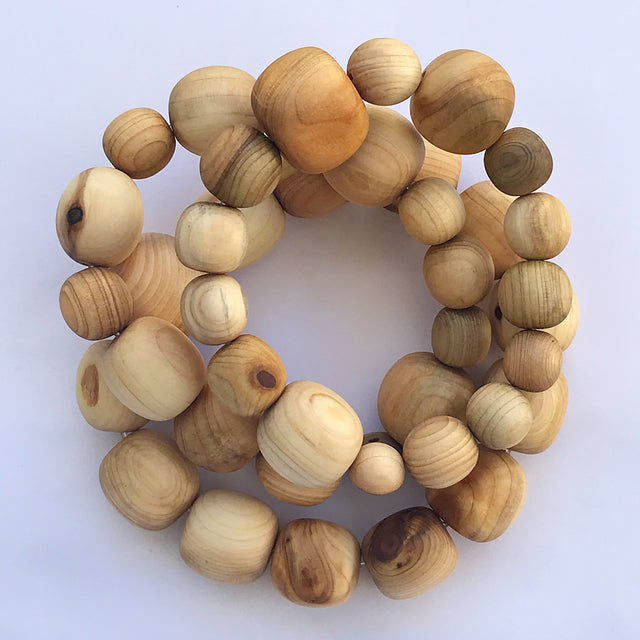 Juniper Wood Bracelet by MacfieKatBeads