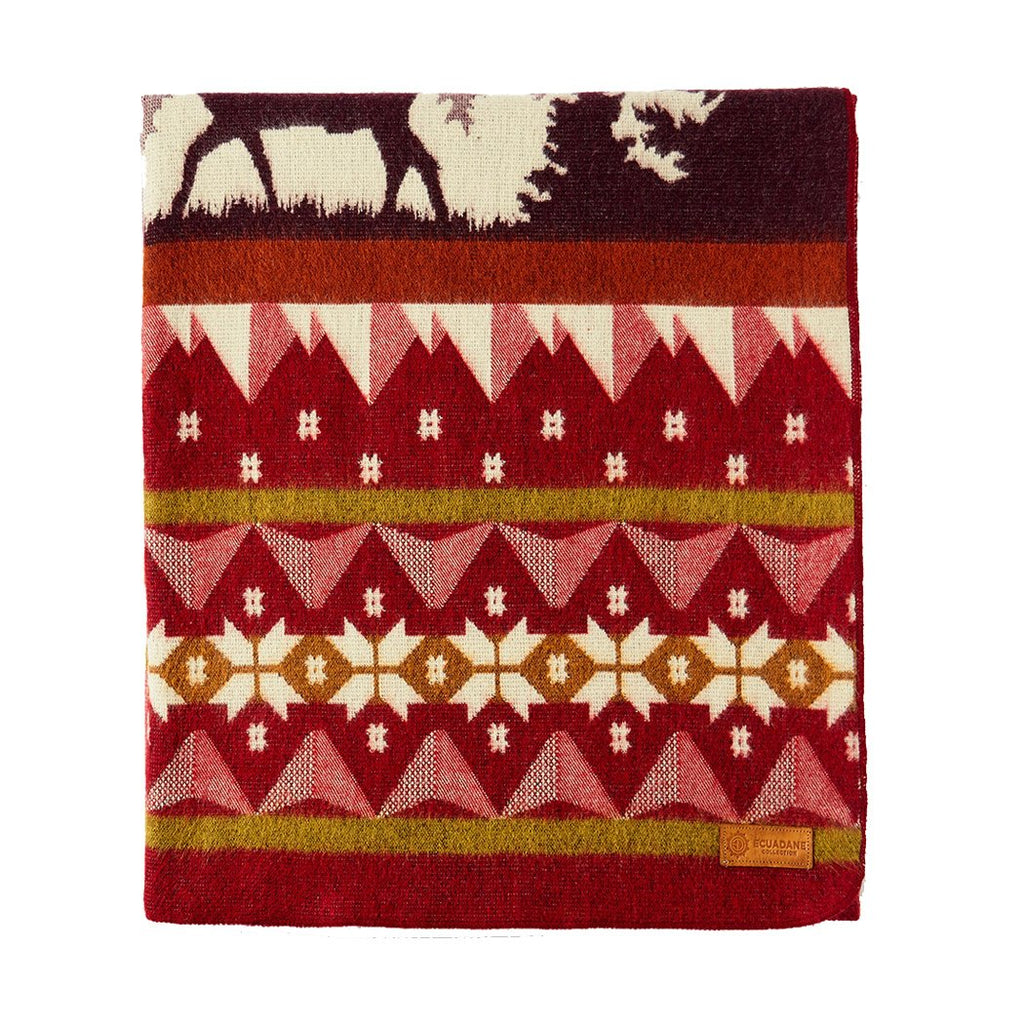 Red Ski Adventure Blanket