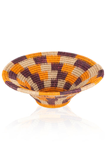 Purple/Orange Ntombi Basket by Lalibella