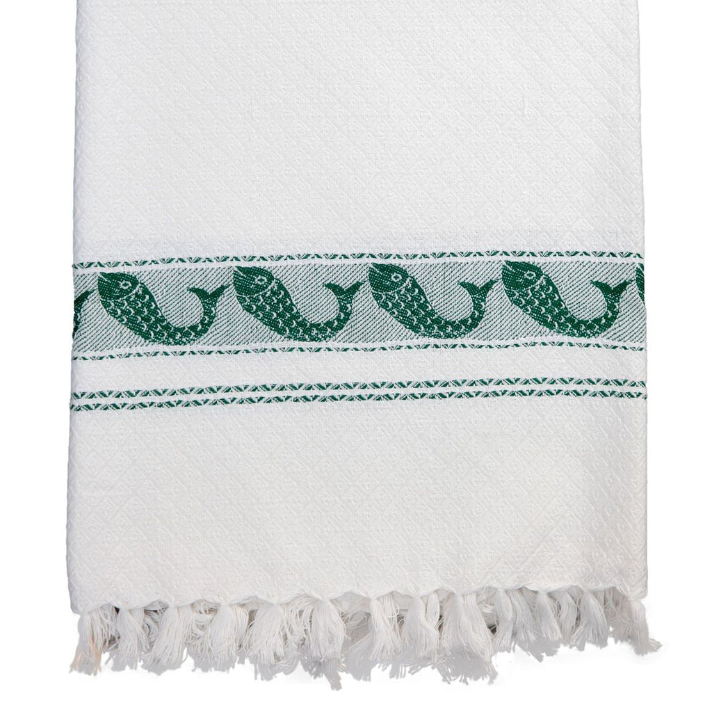 Pisces Towel in Green