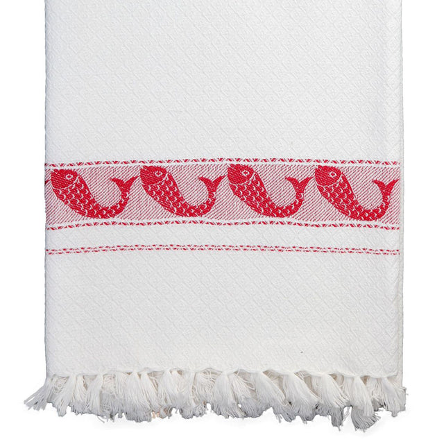Pisces Towel in Red
