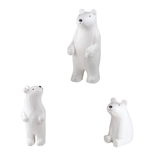 Polepole polar bear family