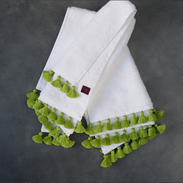 White & Apple Towels