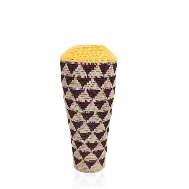 African Woven Floor Vase by Lalibella