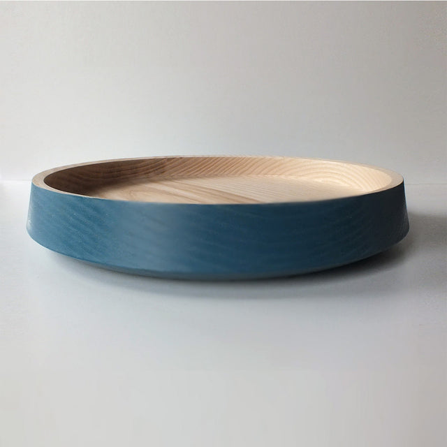 Big Flat Bowl (Deep Blue) by Marisa Klaster