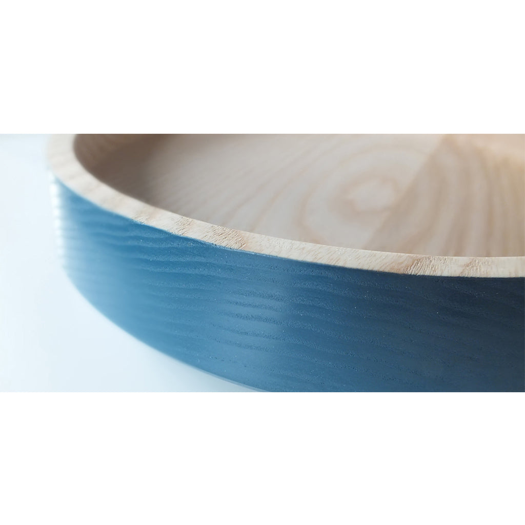 Blue Wooden Bowl