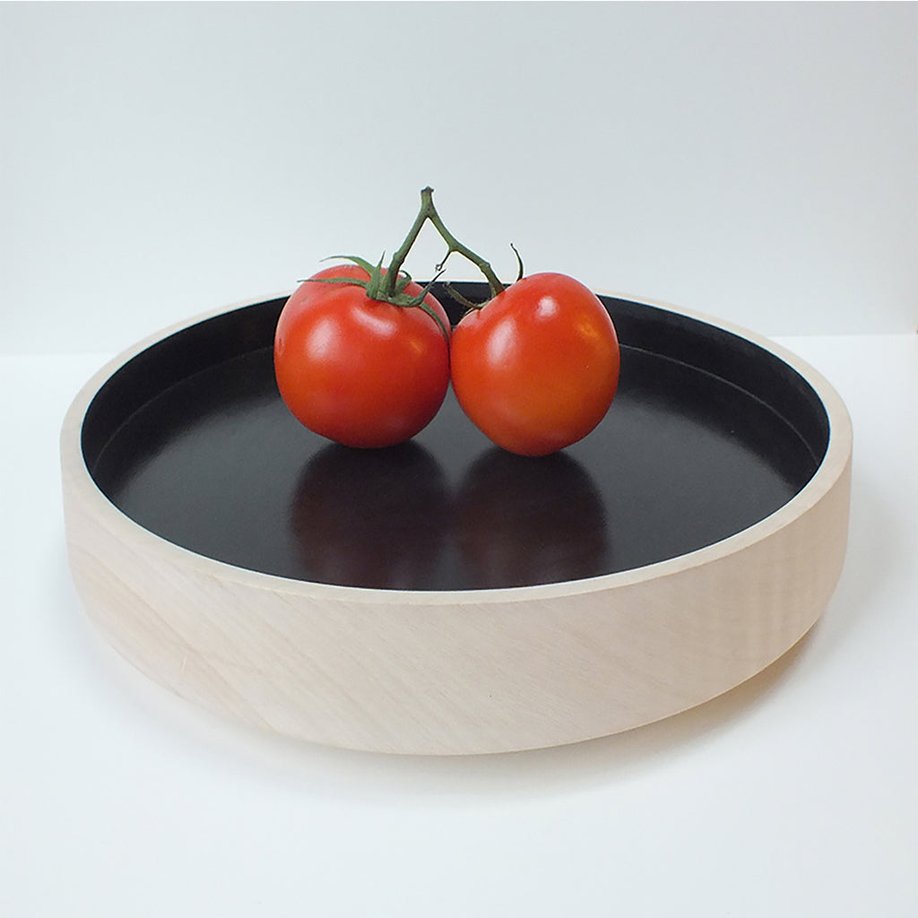 Big Flat Bowl (Glossy Black) by Marisa Klaster