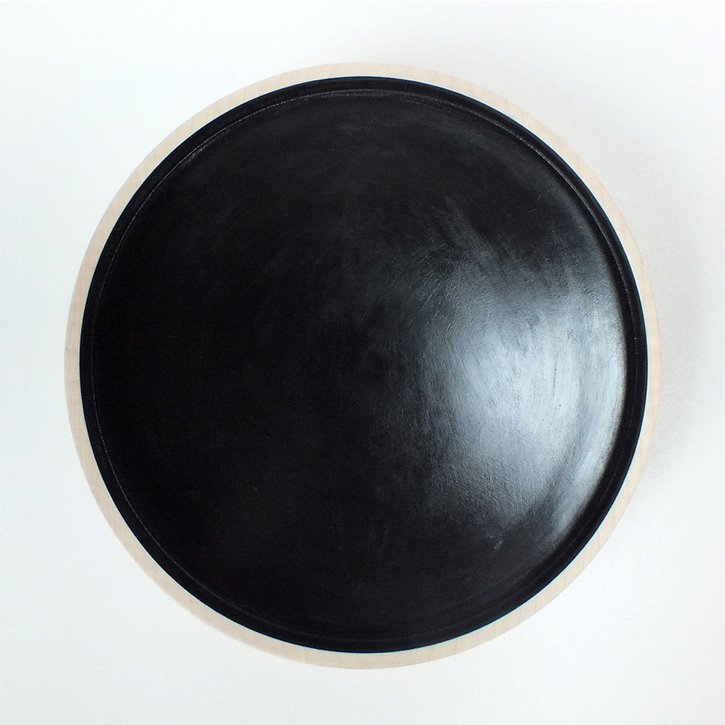 Black Handmade Wooden Bowl