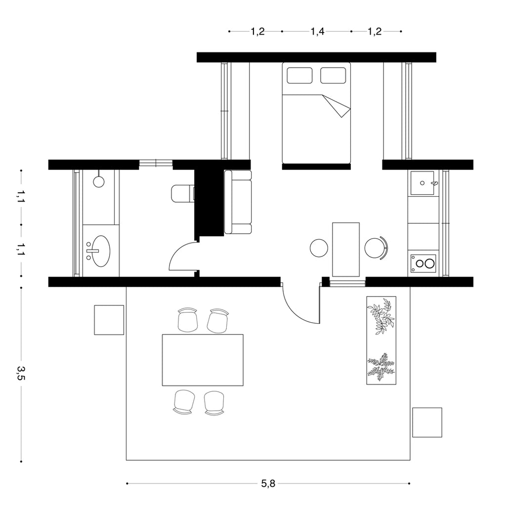 Monocabin Floor Plan