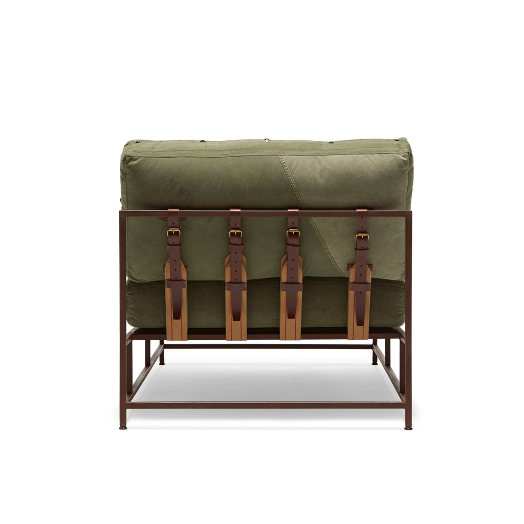 Military Canvas Chaise Lounge