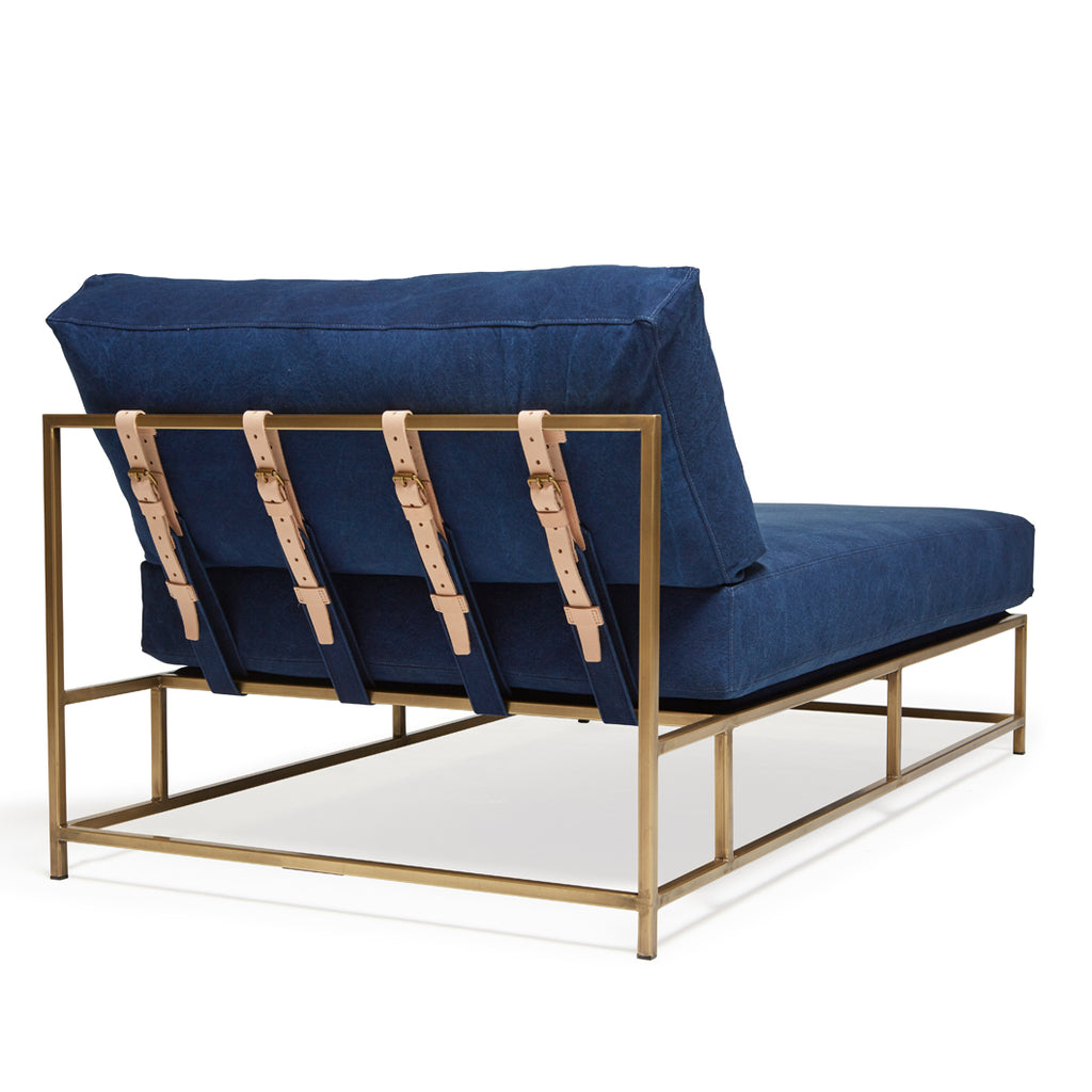 Indigo Canvas Chaise Lounge