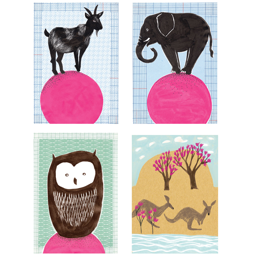 Circus Greeting Cards by Nina Binkert