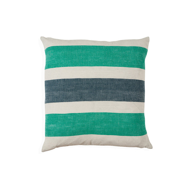 Gete cushion in green and blue