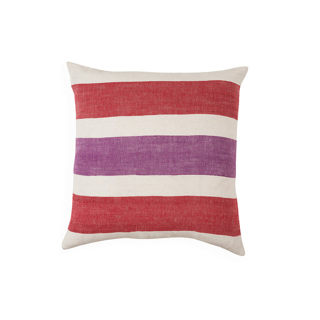 Gete cushion in red and purple