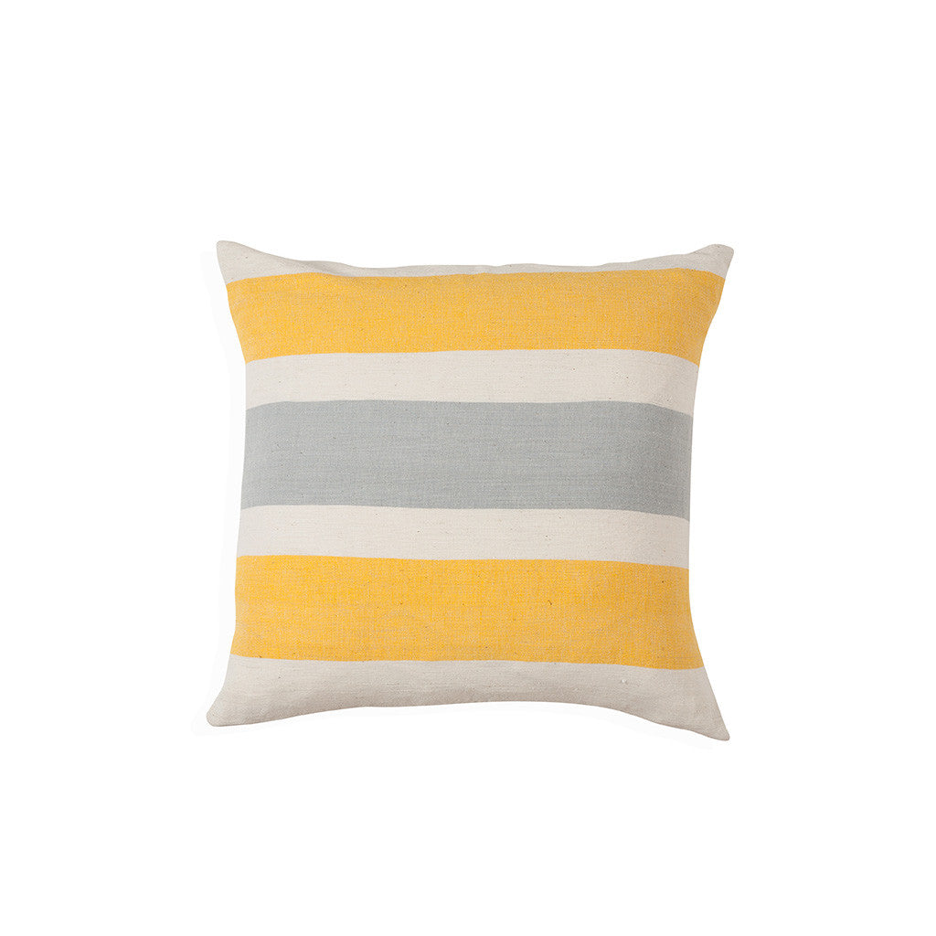 Gete cushion in yellow and grey
