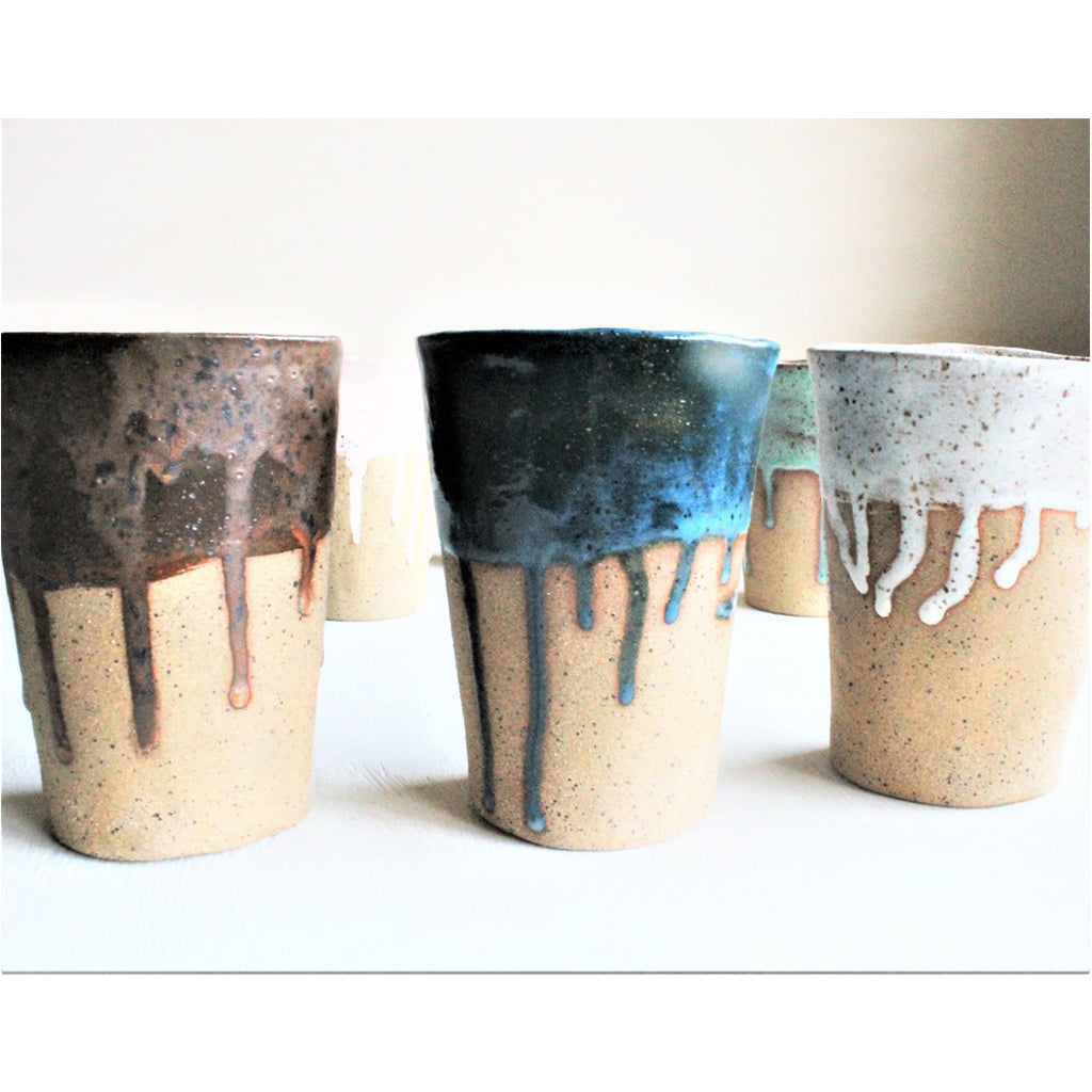 Speckled Paint Drip Tumbler