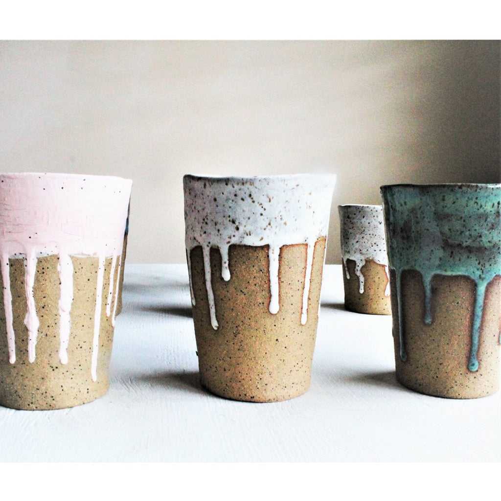 Speckled Paint Drip Cup