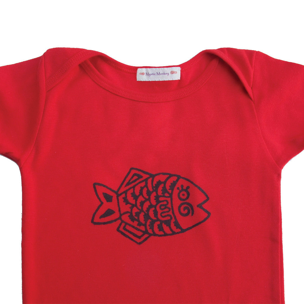 Mystic Monkey baby T-shirt - Fish
