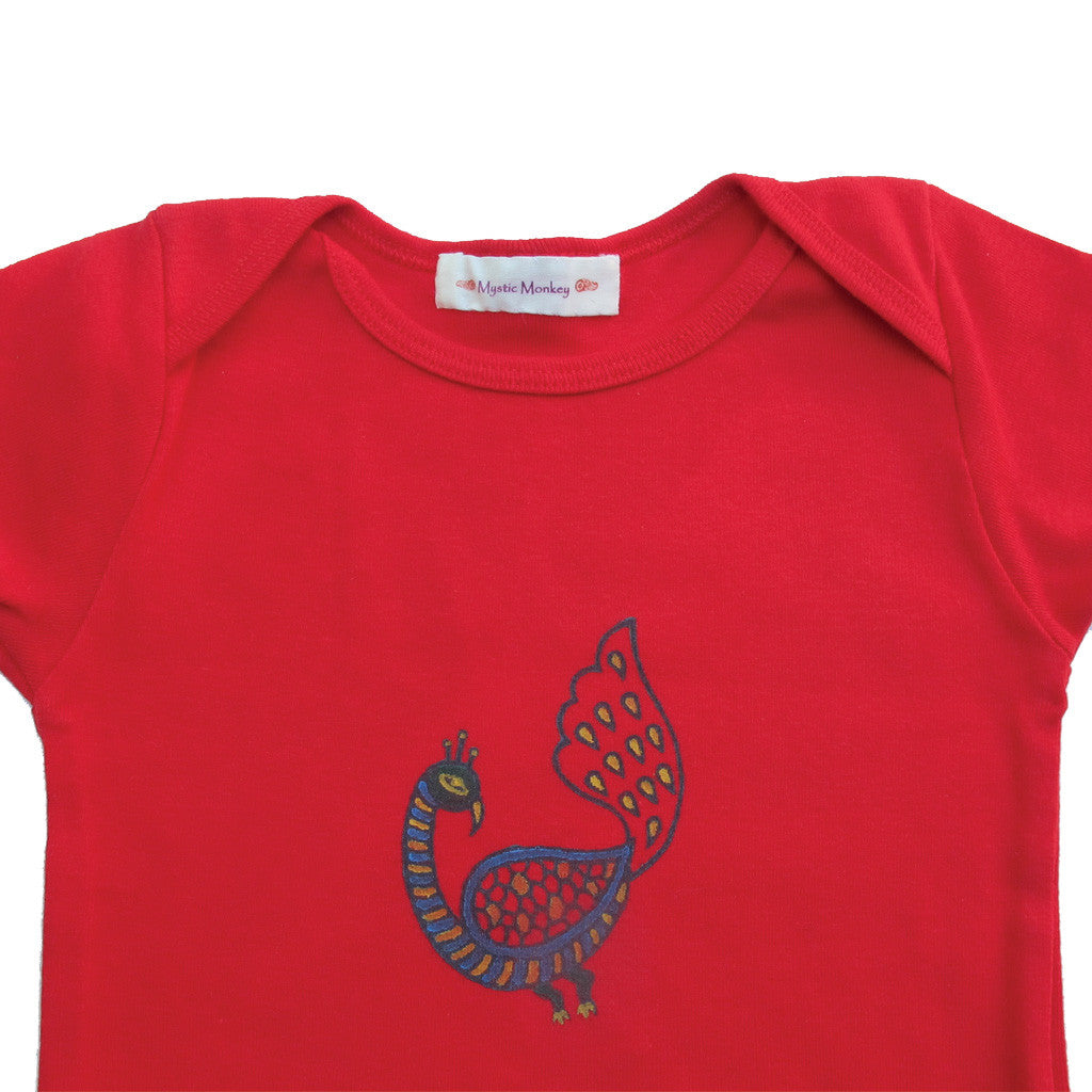 Mystic Monkey baby T-shirt - Peacock