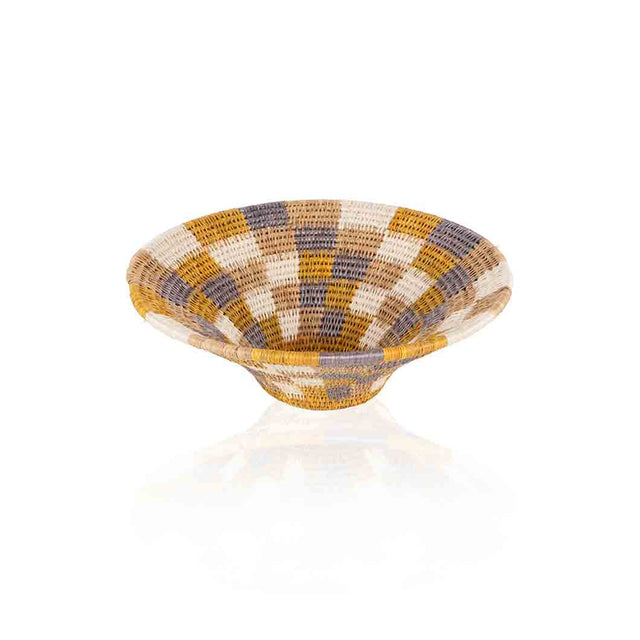 Yellow/Gray Ntombi Basket