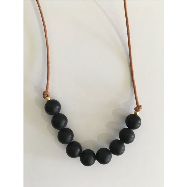 Black Onyx Necklace by Cecilia Szivos
