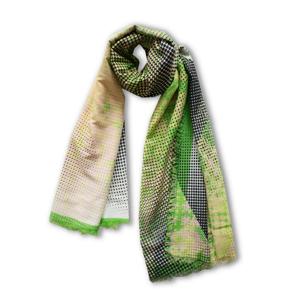 Vibrant Green Scarf by Johanna Michel