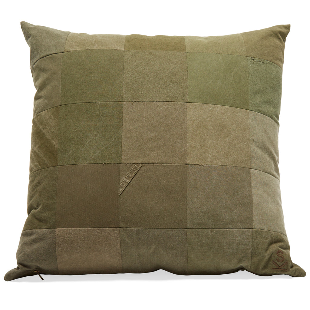 Vintage Military Canvas Throw Pillow