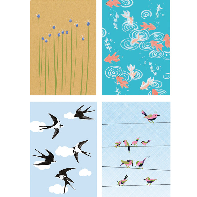 Seasons Cards by Swiss Illustrator Nina Binkert