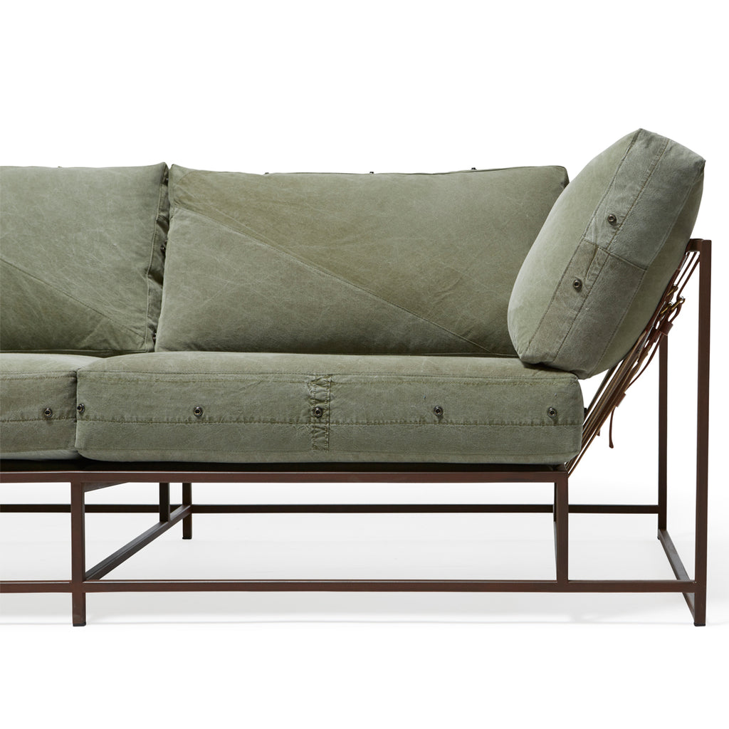 Vintage Military Canvas Sofa