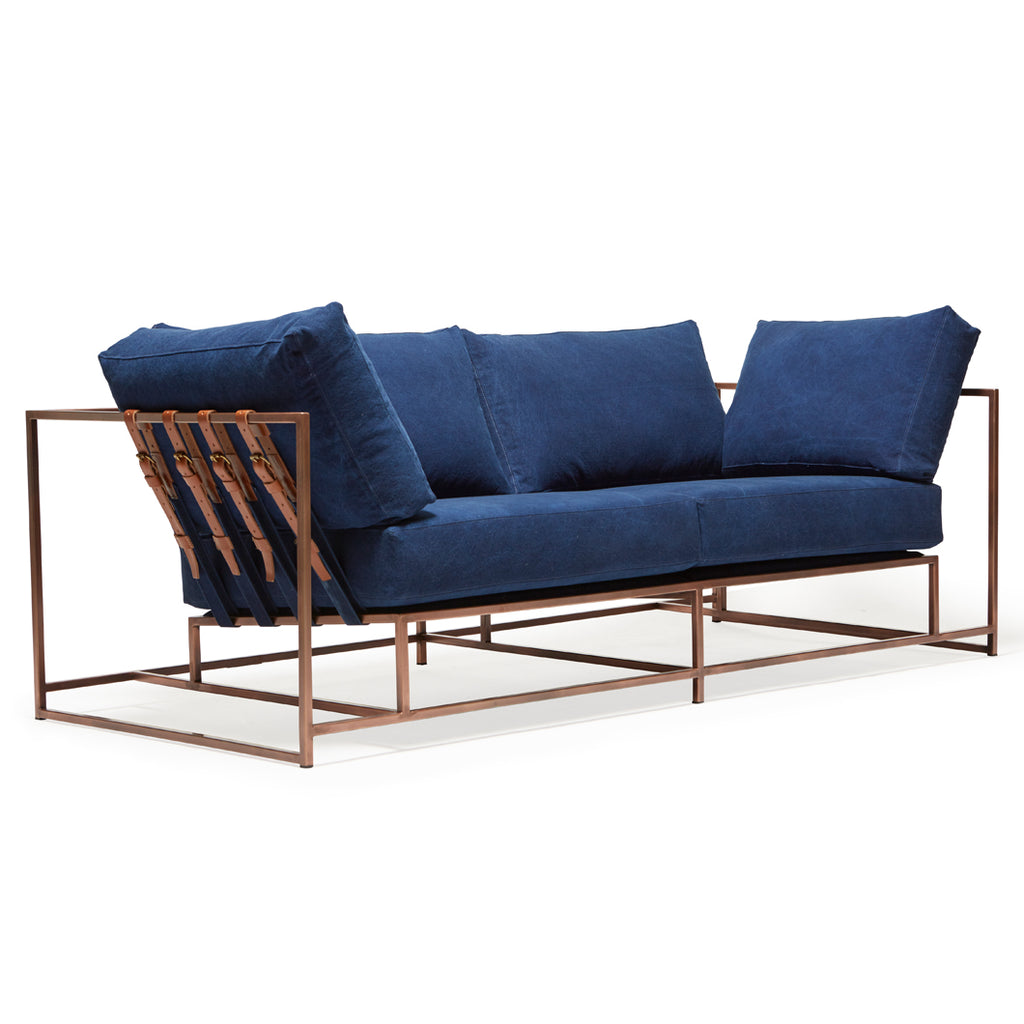 Indigo Canvas Couch
