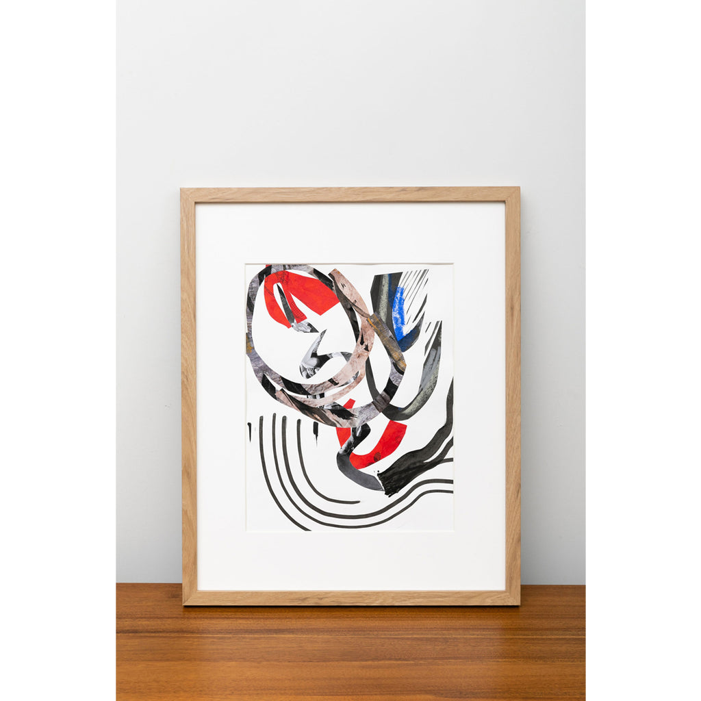 Untitled - Black, White, Red, Cobalt