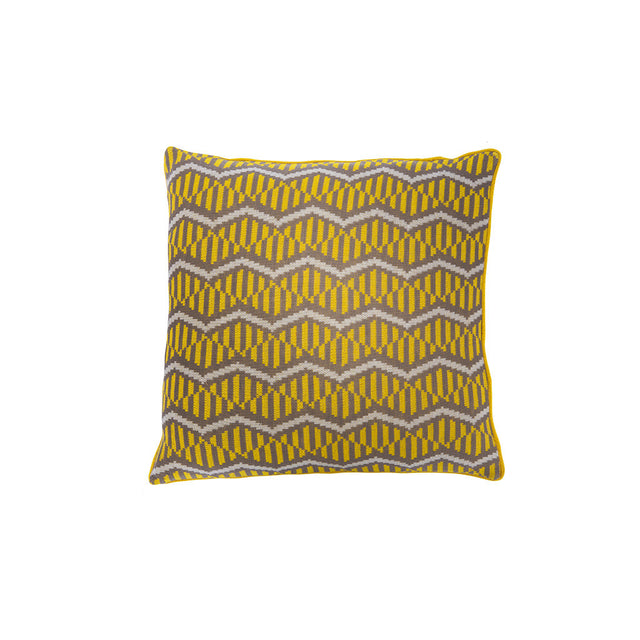 Maxhosa cushion in yellow