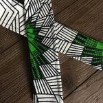 Ankara Print Wired Headband- Nyota (Green)