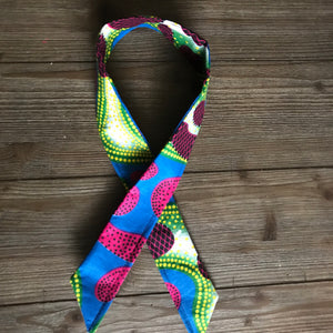 Ankara Print Wired Headband- Pomme