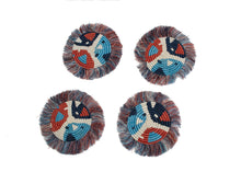 Load image into Gallery viewer, Blue Night + Ginger Matisse Fringed Coasters