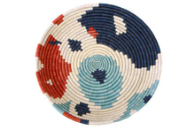 Load image into Gallery viewer, Abstract Navy + Orange Circular Tray
