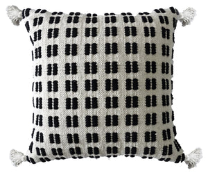 Throw Pillow  | Black & Beige Check