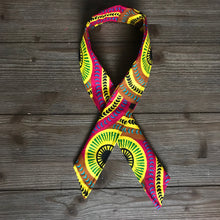 Load image into Gallery viewer, Ankara Print Wired Headband- Tracks