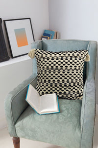 Throw Pillow | Black & Beige