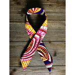 Ankara Print Wired Headband- Ngao Pink