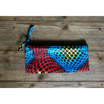 Ankara Print  Zippered Cosmetic Bag- Dots