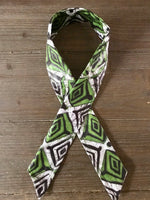 Ankara Print Wired Headband- Green Almasi