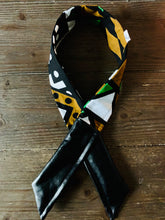 Load image into Gallery viewer, Ankara + Vegan Leather Twisted Headband- Dream
