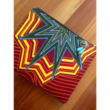"Load image into Gallery viewer, Ankara Print Fabric Laptop Sleeve for 12"" MacBook Air- Star"