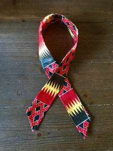 Ankara Print Wired Headband- Red Kente