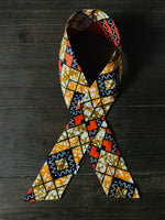 Ankara Print Twisted Headband- Brass