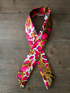 Twisted Headband- Pink Python